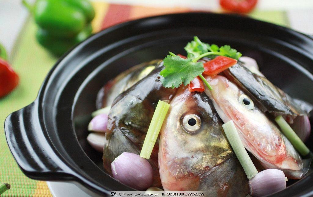 焗鱼头煲图片