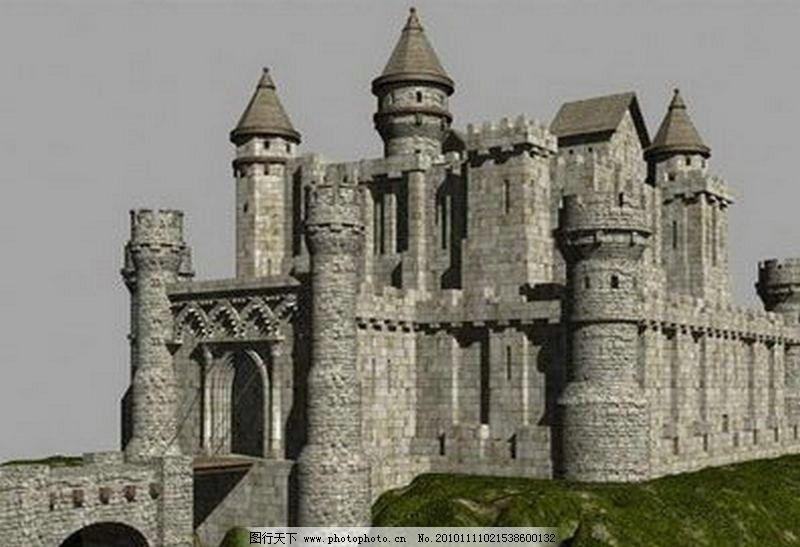 古堡 城堡 欧式场景 其他模型 3d设计模型 源文件 max