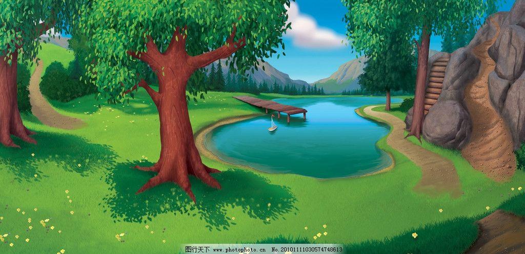 卡通风景 森林