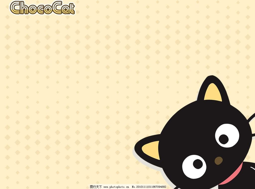 小猫壁画 背景底纹 底纹边框 动漫动画 动漫人物 卡通动漫 可爱