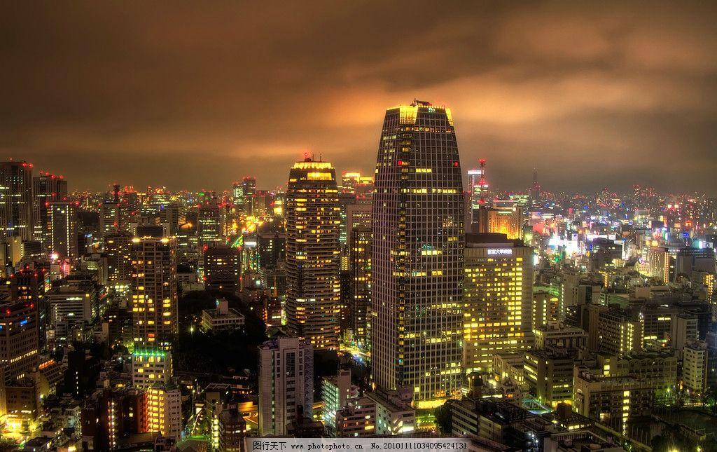 东京 城市夜景 俯瞰图片
