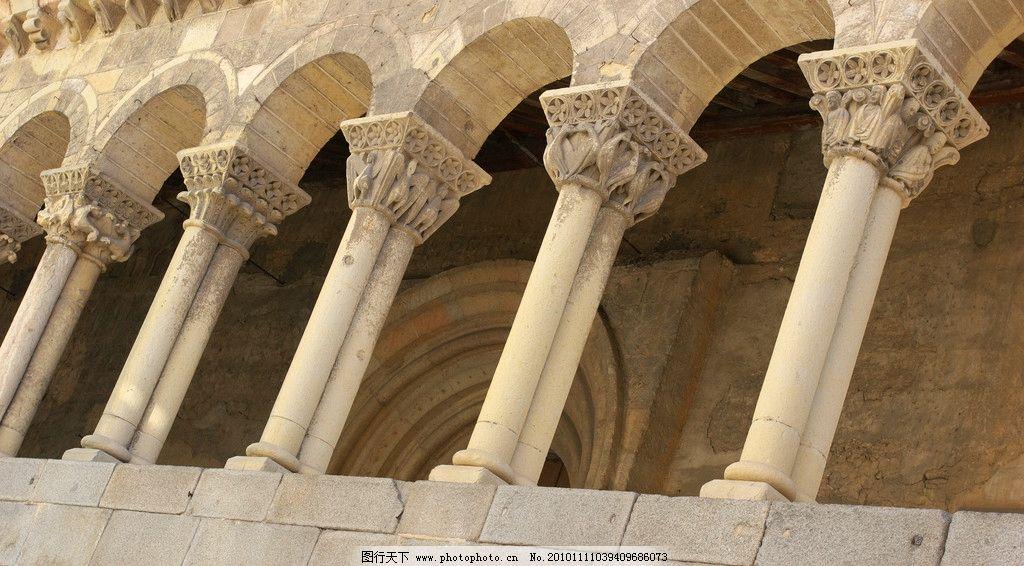 建筑 城堡 门洞 镂空 图案 雕花 走廊 浮雕 罗马柱 建筑摄影 建筑园林
