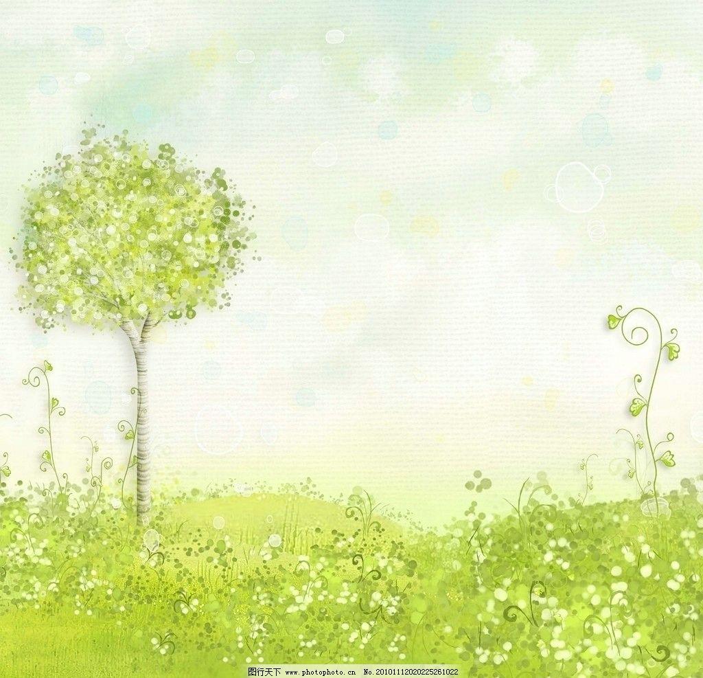 梦幻浪漫童话世界 花丛 花朵图片