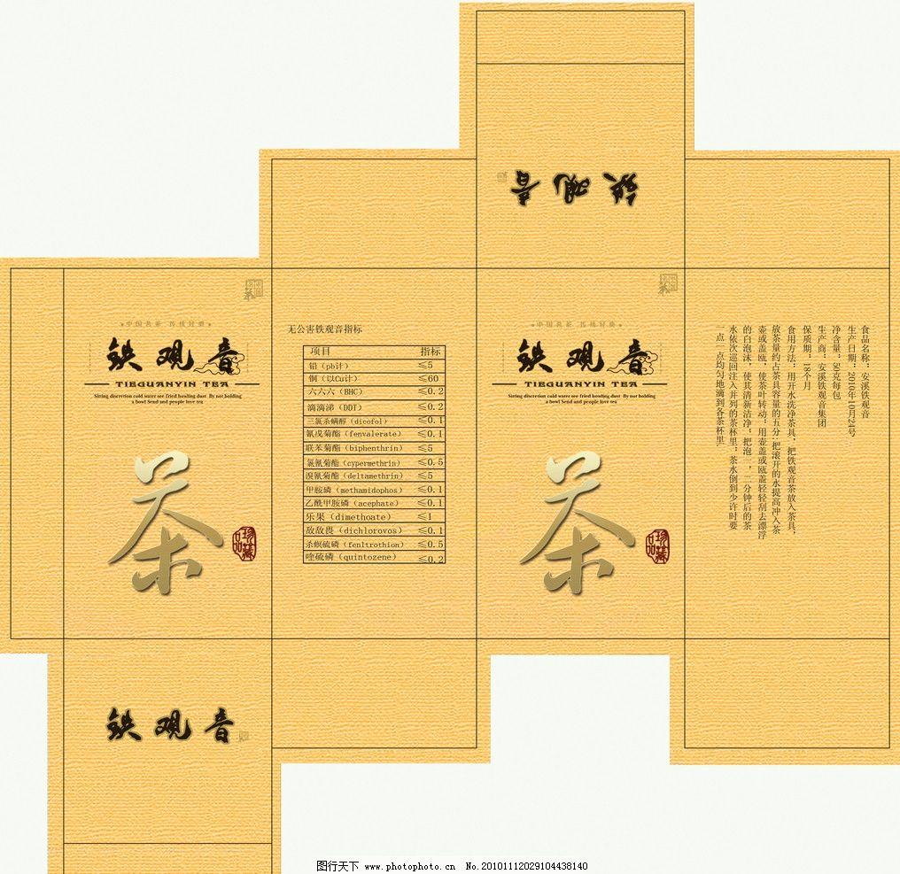 铁观音包装盒 铁观音 茶 包装盒平面图 包装盒展开图 包装设计 广告