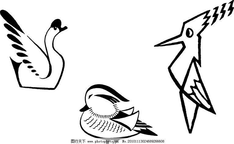 可爱天鹅简笔画