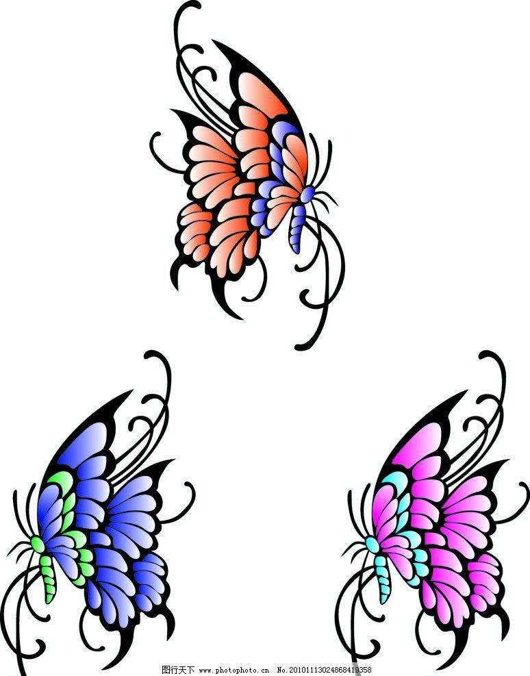 蝴蝶 矢量图案 适合纹身资料 cs3图库 矢量素材 其他矢量 矢量 ai