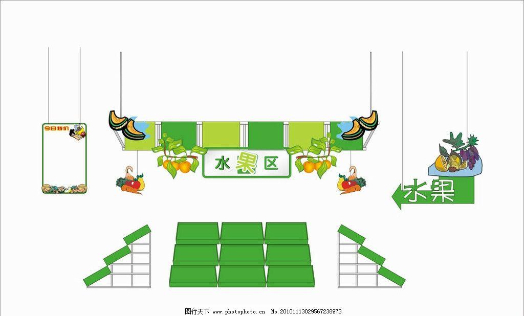 超市区域设计水果区 超市 区域 水果 cdr9 商场超市设计 广告设计