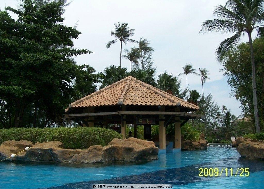 树木 绿化 草木 青葱翠绿 蓝天白云 景观 旅游景点 度假旅游岛 印尼风