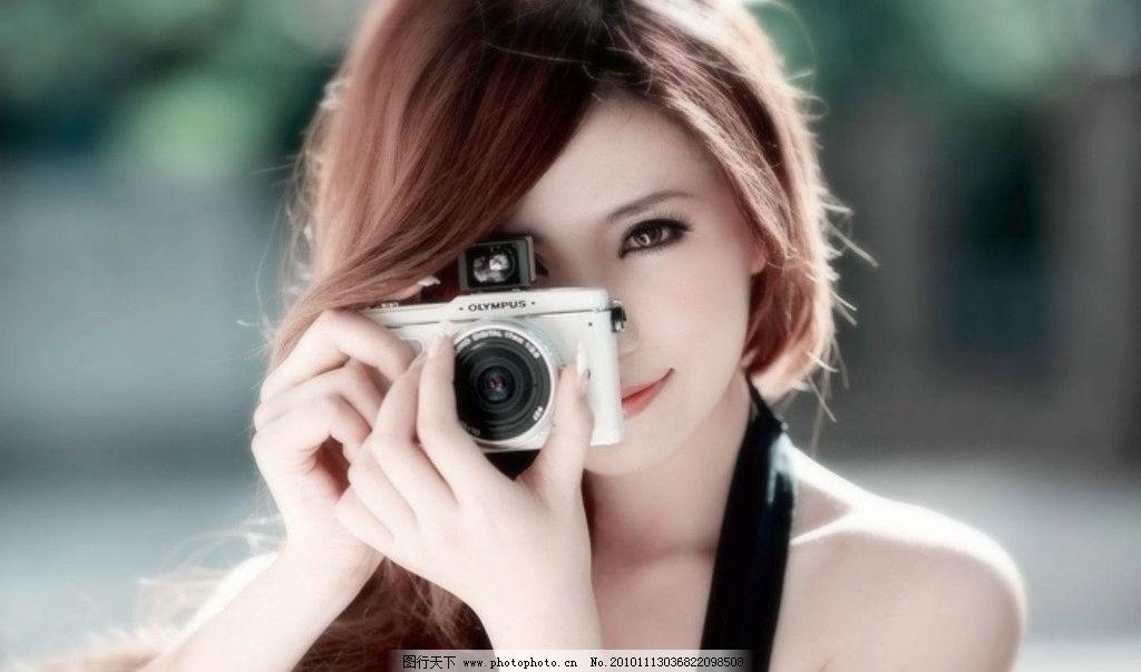拿着相机的美女 相机 美女 火辣身材 漂亮 可爱 人物图库 摄影 美女