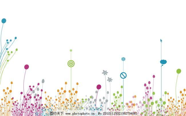 白色 彩色泡泡 花朵 白色 彩色泡泡 花朵 图片素材 底纹边框