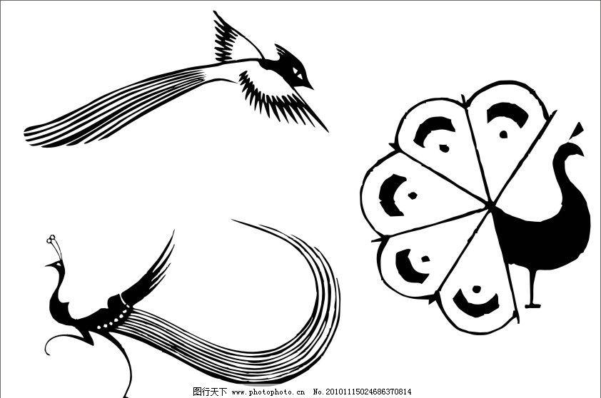 孔雀 鸟 孔雀开屏 鸟类 生物世界 矢量 cdr图片