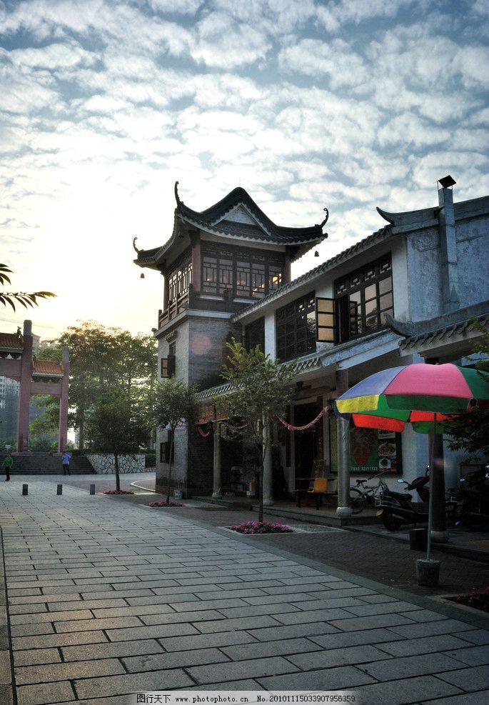 古街 古建筑 八角楼 古街道 阁楼 蓝天白云 国内旅游 旅游摄影 摄影