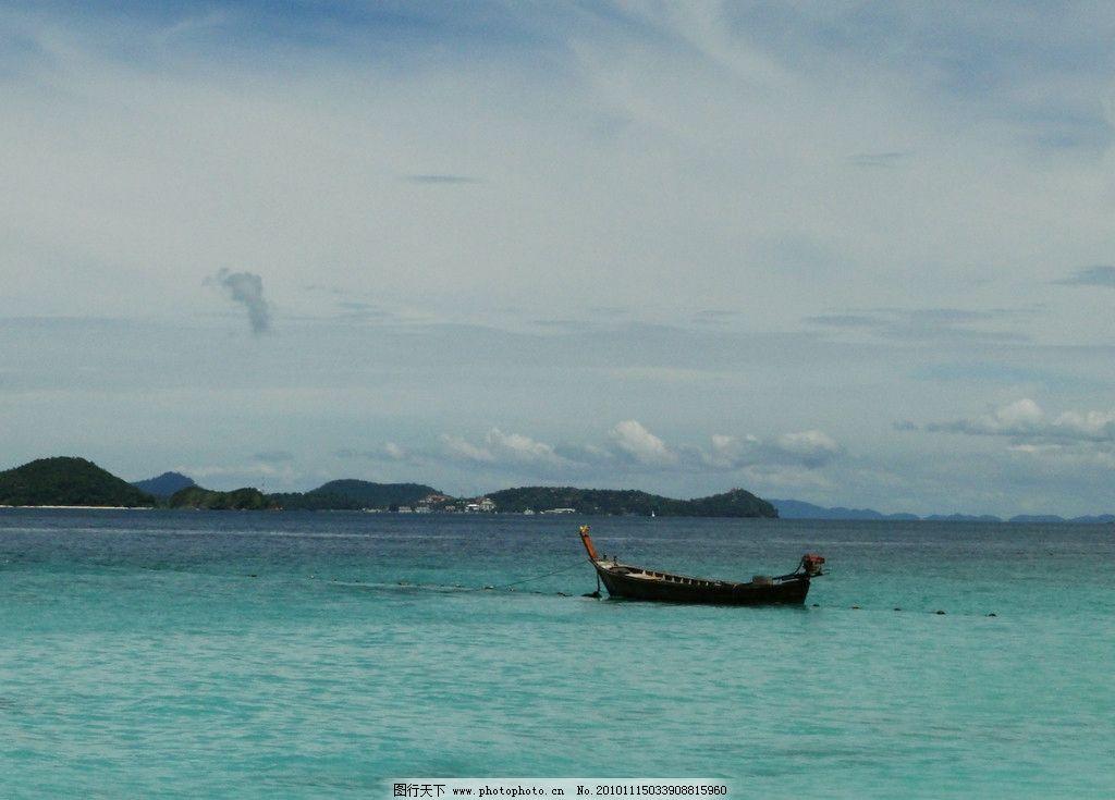珊瑚岛的小船图片