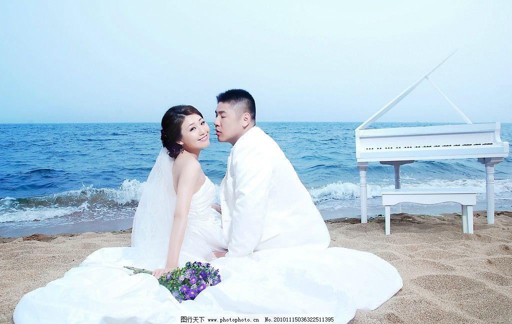 婚纱样片 海边之恋 大海 海边 婚纱 恋人 情侣 新娘 新郎 少女 美女