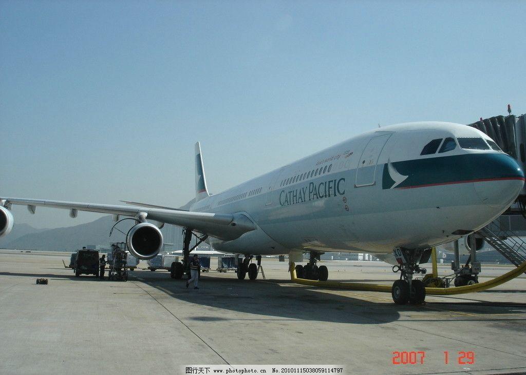 国泰航空飞机 香港机场 国泰航空 飞机 交通工具 现代科技 摄影 72dpi