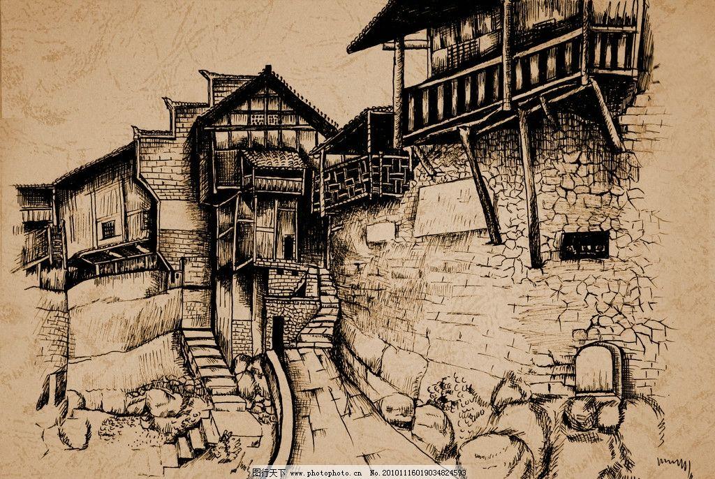 龚滩古镇 速写 绘画书法 文化艺术 设计 72dpi jpg