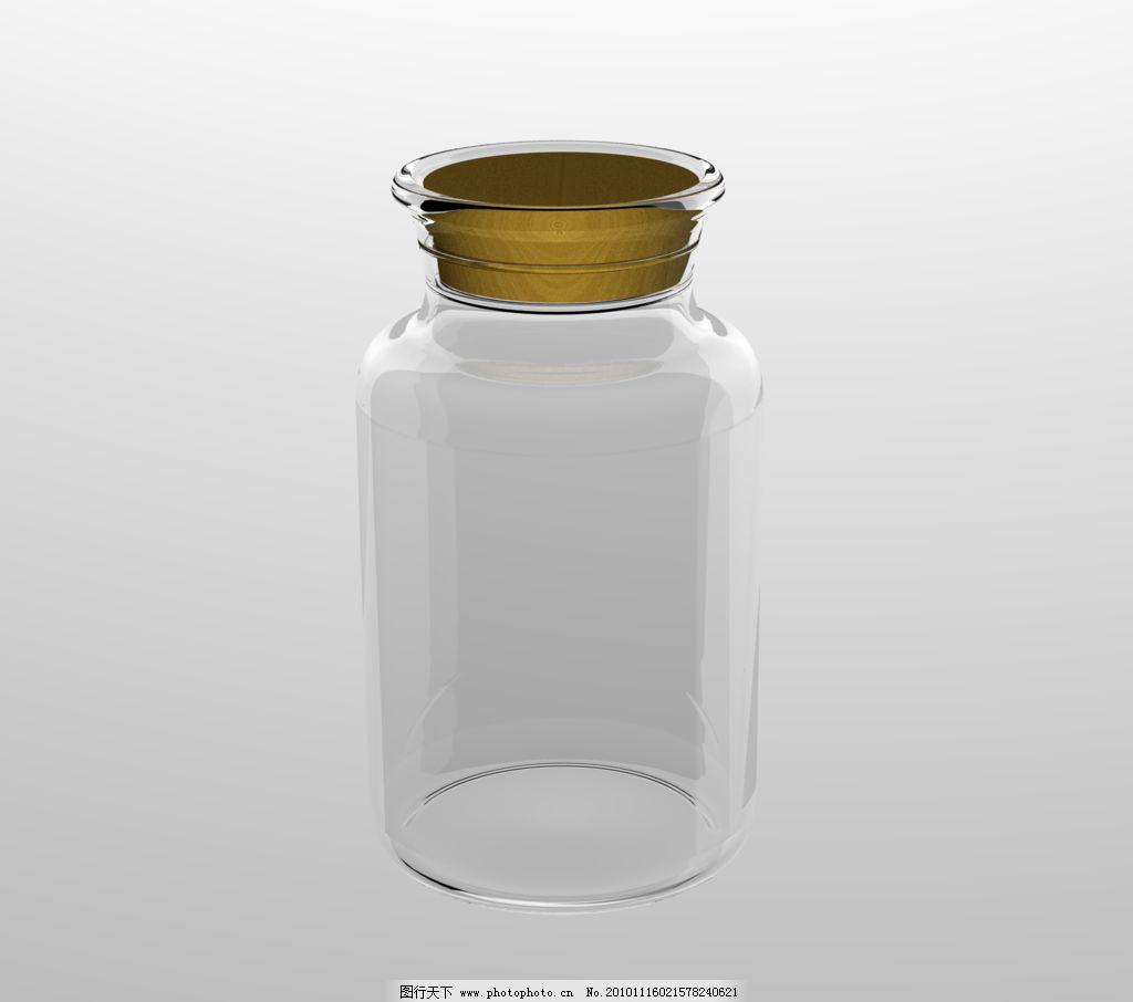 玻璃瓶俯视图 玻璃瓶 软木塞 包装设计 容器 3d 玻璃材质 广告设计