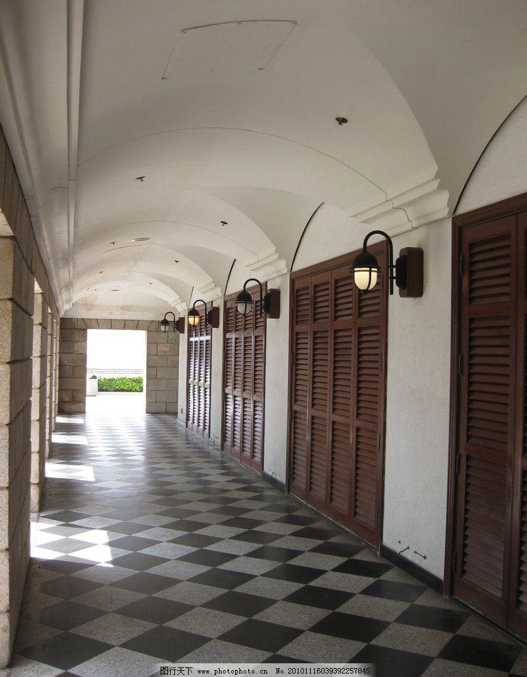 走廊 光影 黑白 古典 旧建筑物 室内摄影 建筑园林