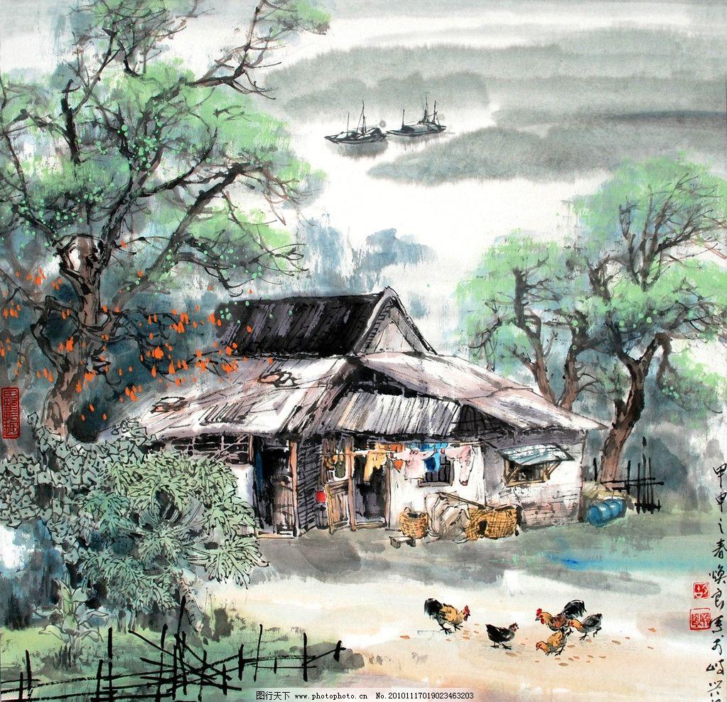 水墨画 绘画 美术作品 艺术作品 手绘 装饰画 写生 写实 现代国画