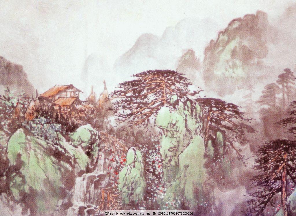 风景 扫描图 手绘 装饰画 无框画 绘画书法 文化艺术 大山 油画 设计