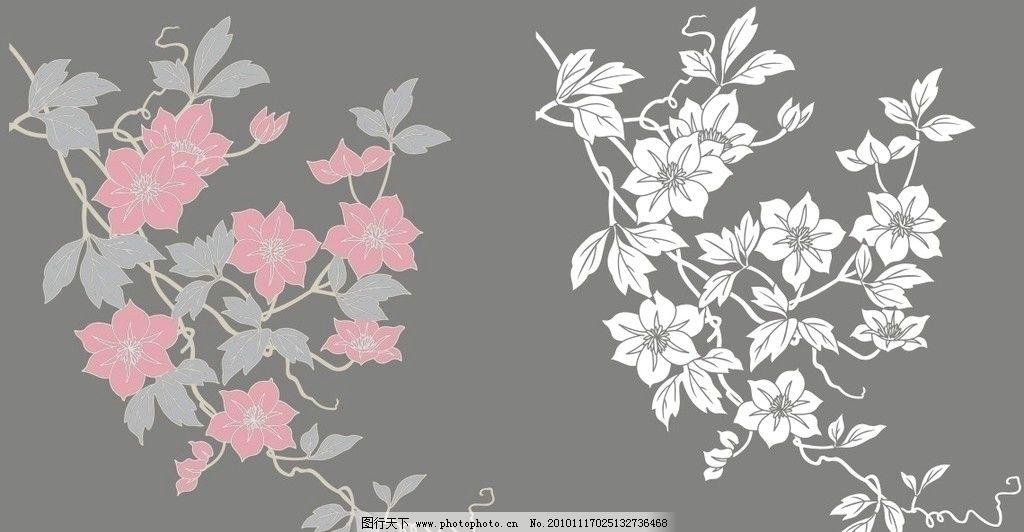 现代抽象花 矢量 现代 抽象 墙绘 植物 花 移门 花草 生物世界 cdr