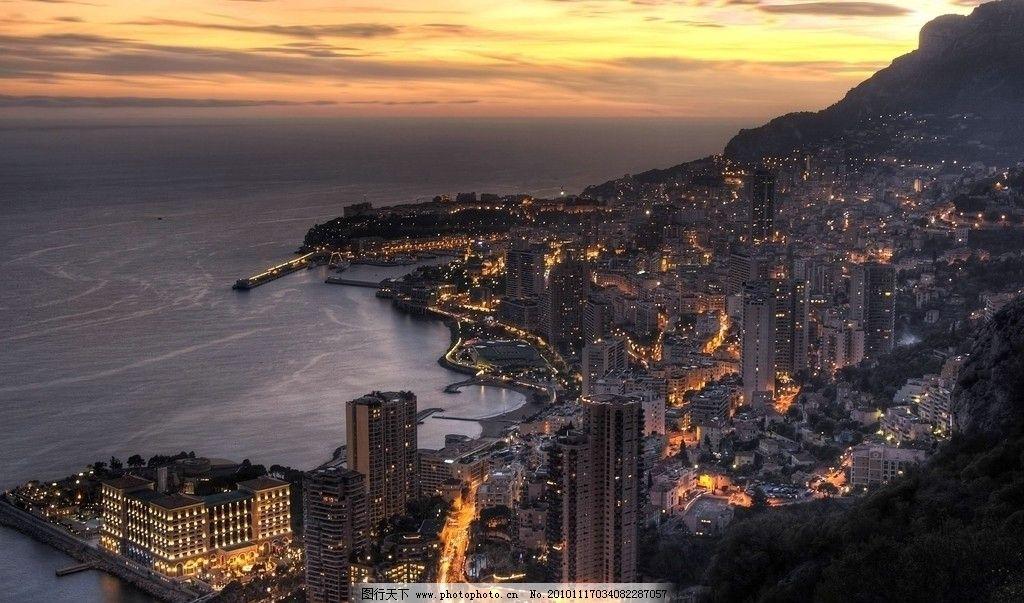 安卓 摩纳哥/摩洛哥黄昏 城市美景图片