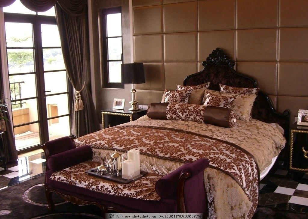 样板房 床      主卧 室内 房间 欧式 装饰 样板间 室内设计 床铺
