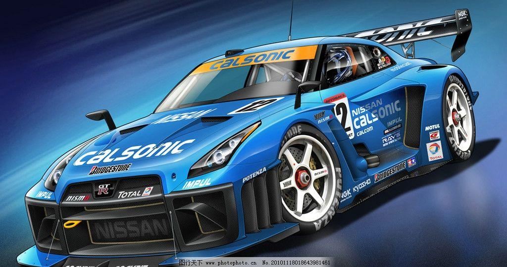 蓝色赛车 跑车 赛车 蓝色 奔驰 f1 赛道 其他 动漫动画 设计 300dpi j