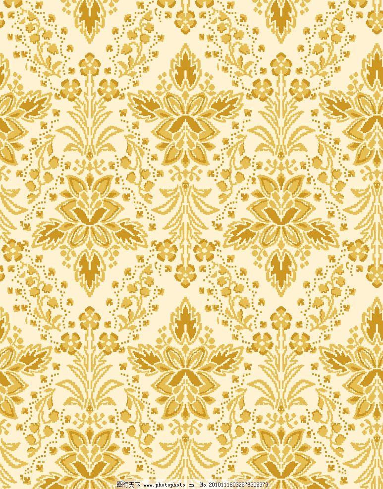金光闪闪 金光 闪闪 花纹 花边 欧式 线条花 底纹 背景 素材 流畅