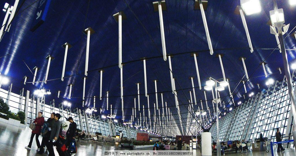上海浦东机场 飞机场 候机楼