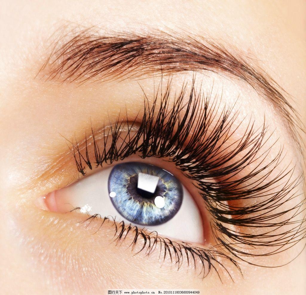 迷人的眼睛 化妆 眉毛 皮肤 心灵的窗户 晶状体 特写 时尚 模特 人物