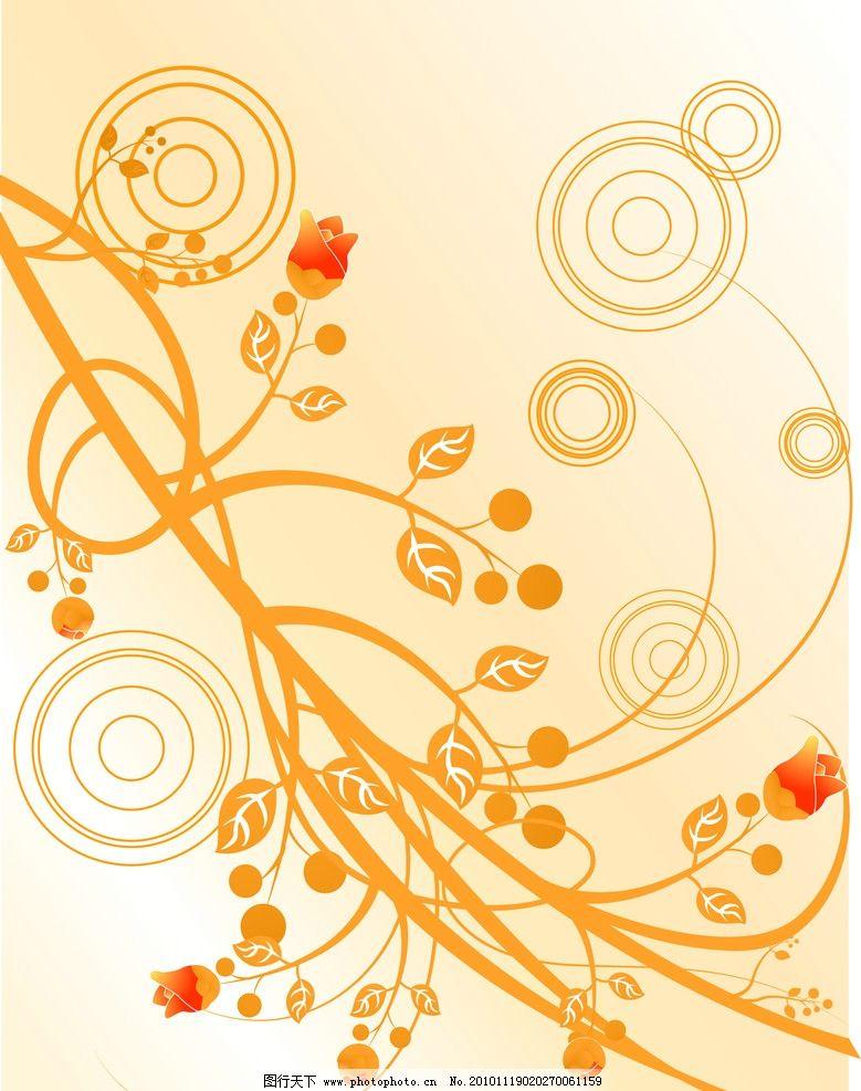 黄色线条 花纹 线条 圆圈