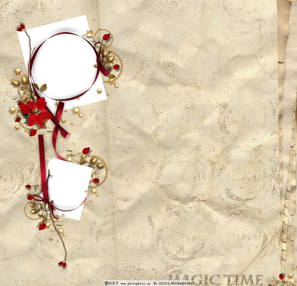 圣诞节装饰 圣诞节画框 装饰 铃铛 边框相框 底纹边框 设计 299dpi