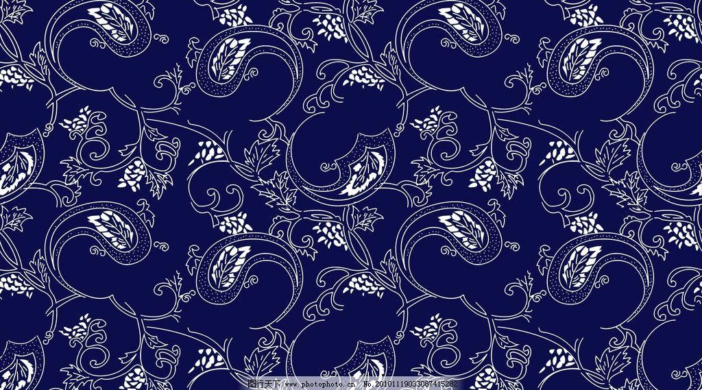 花纹 图案 蓝印花布 蓝色花纹 白色花纹 素材 psd分层素材 源文件 300