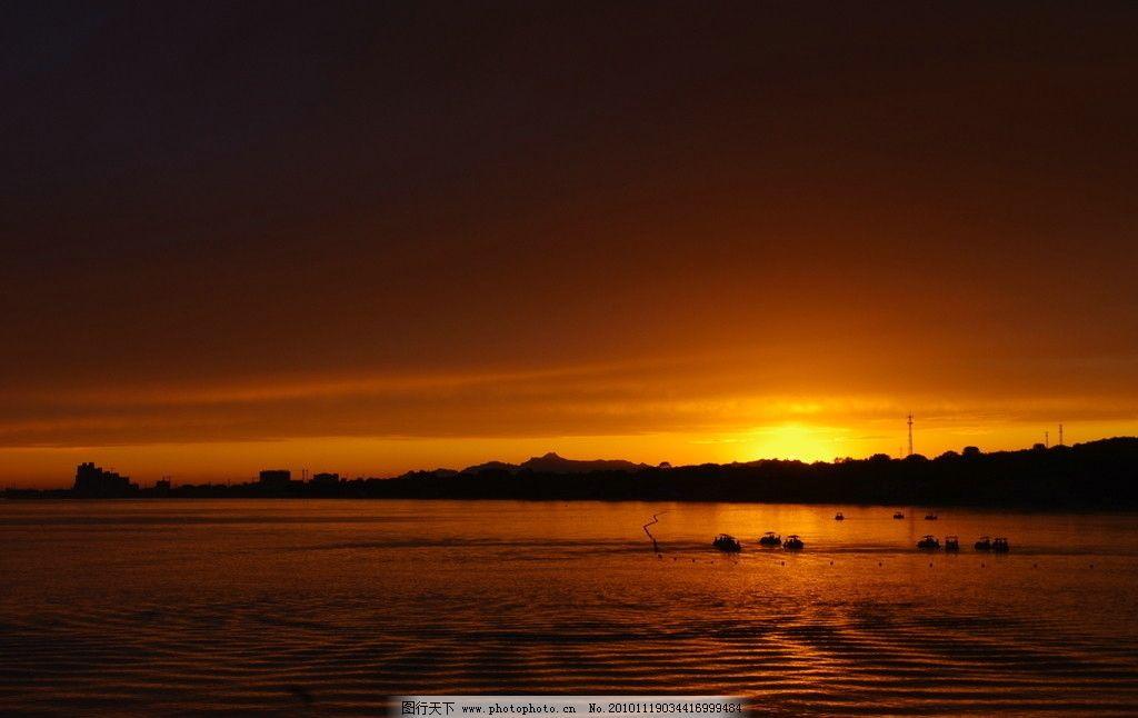 北戴河海边日落 日落 海边 落日 余辉 夕阳 晚霞 傍晚 自然 大自然