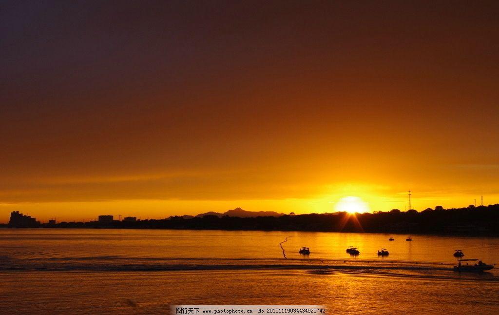 北戴河日落 北戴河 海边 日落 晚霞 夕阳 余辉 山水风景 自然景观