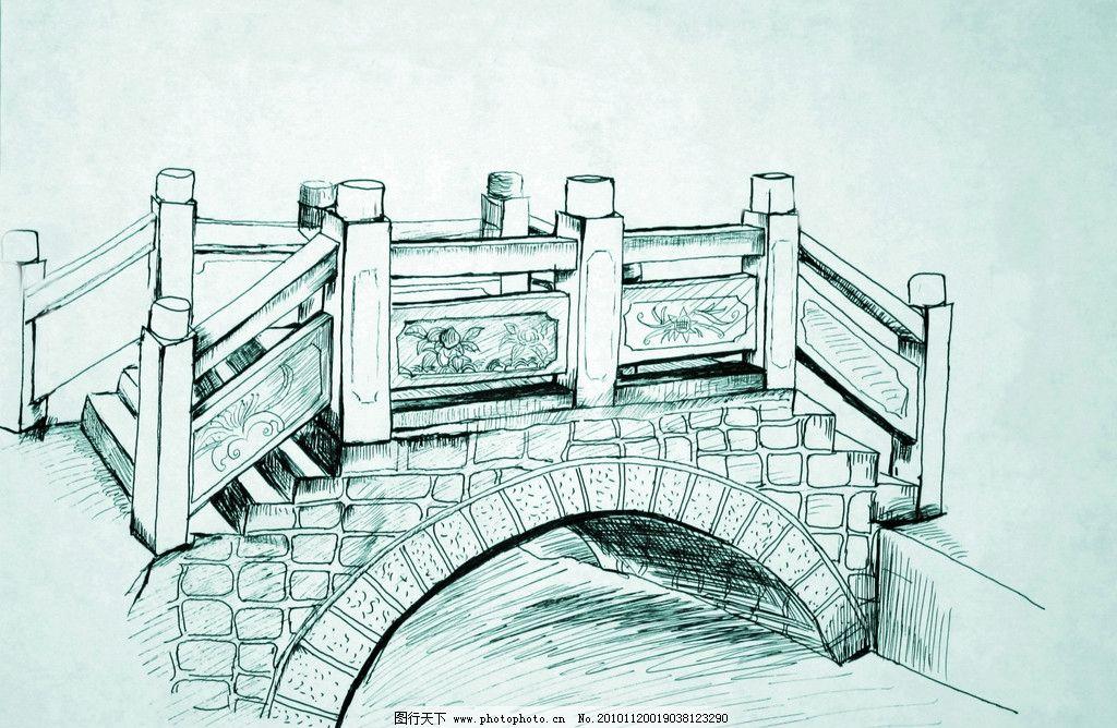 速写桥 拱桥 绘画书法 文化艺术 设计 72dpi jpg