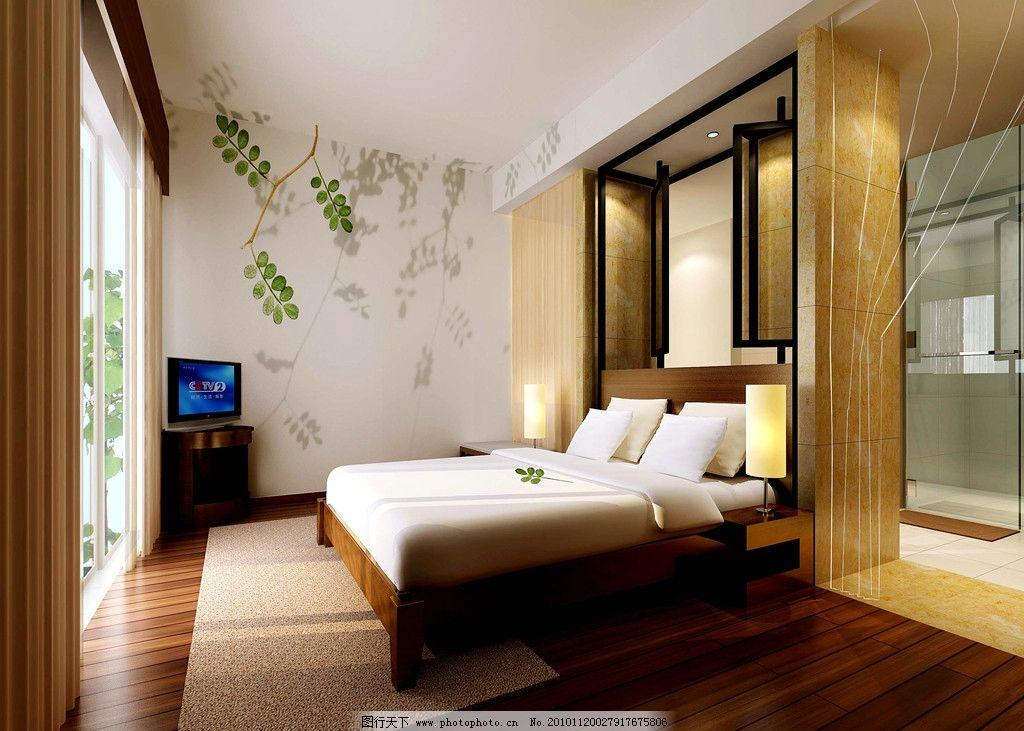 美术 装饰设计 室内装饰 卧室装饰 天花 地板 墙饰 床 床用品