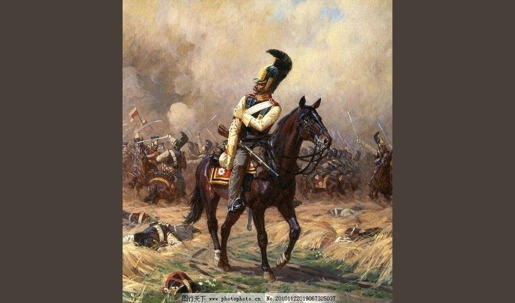 人物油画 欧美油画 阿弗亚诺夫 亚历山大 大师作品 男人 马 动物 人物