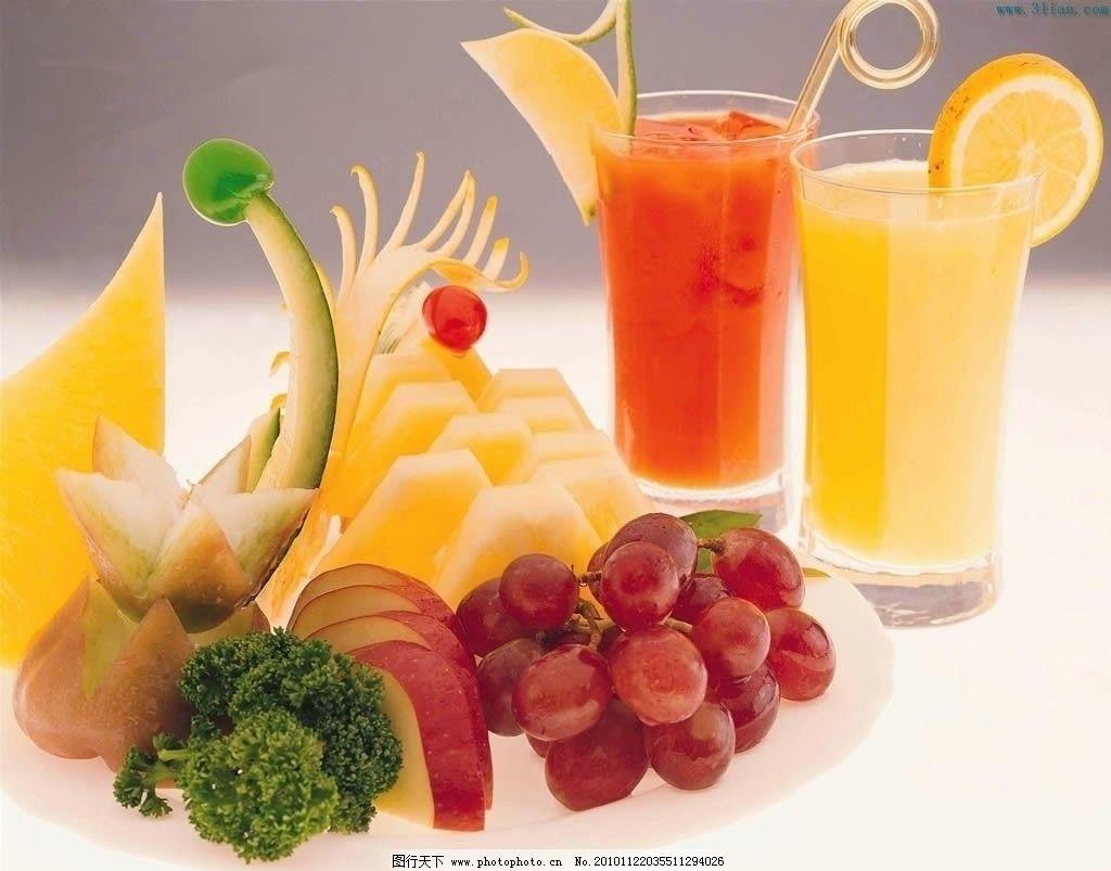 水果 葡萄 橙子 西瓜 芒果 果汁 生物世界 摄影