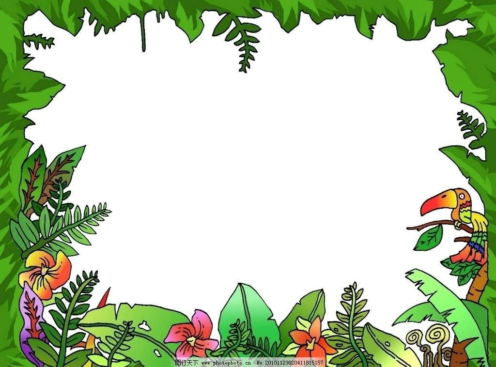 花丛边框图片