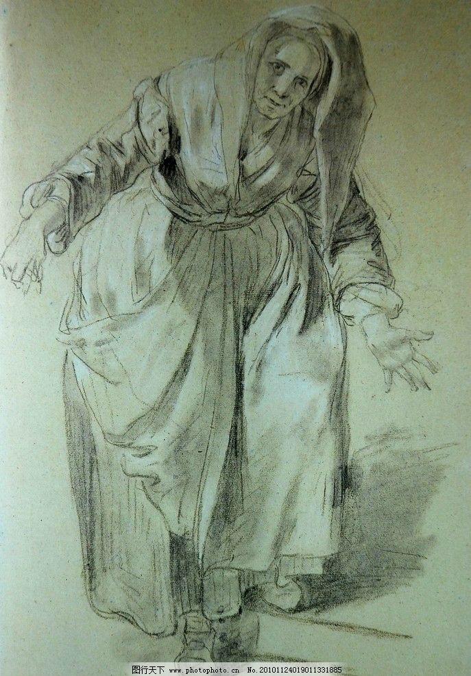 素描头像 头像素描 素描      肖像 人物 老外 线描 线稿 线条 人头像