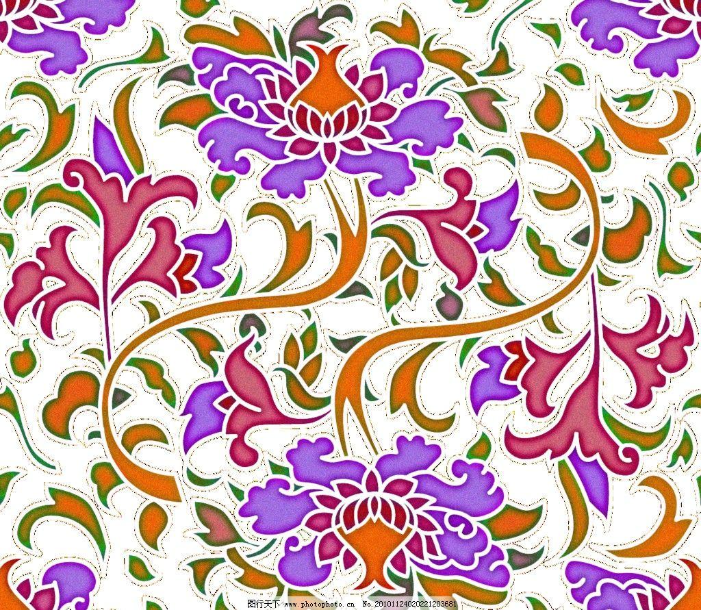传统图案 花纹 纹样 紫色