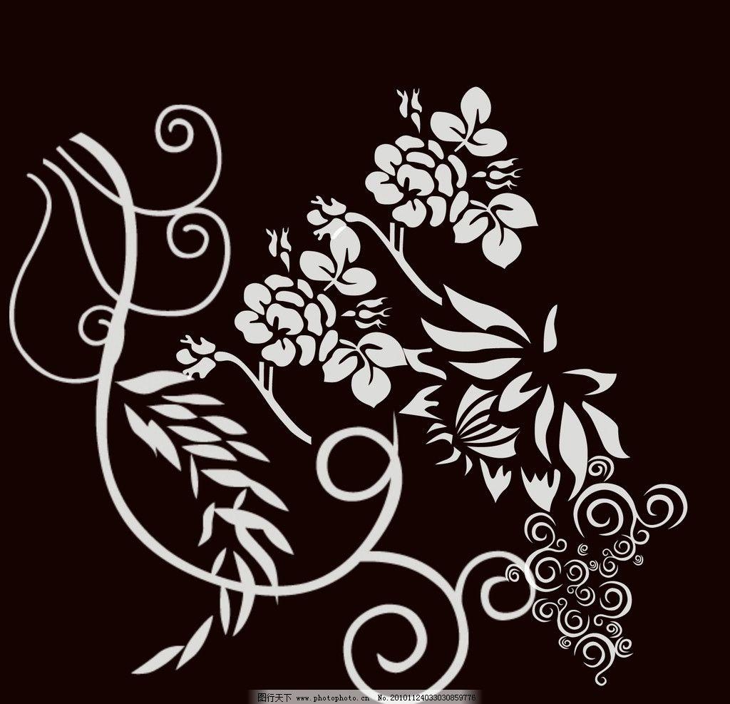 黑白花纹图图片