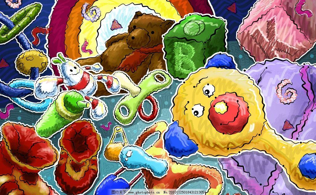 手绘卡通儿童玩具熊图片