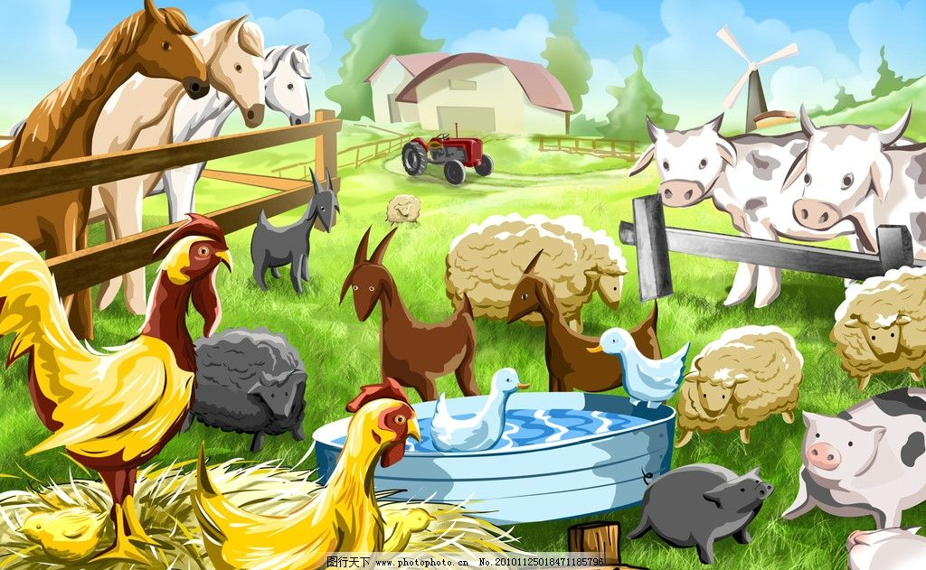 手绘卡通农场图片