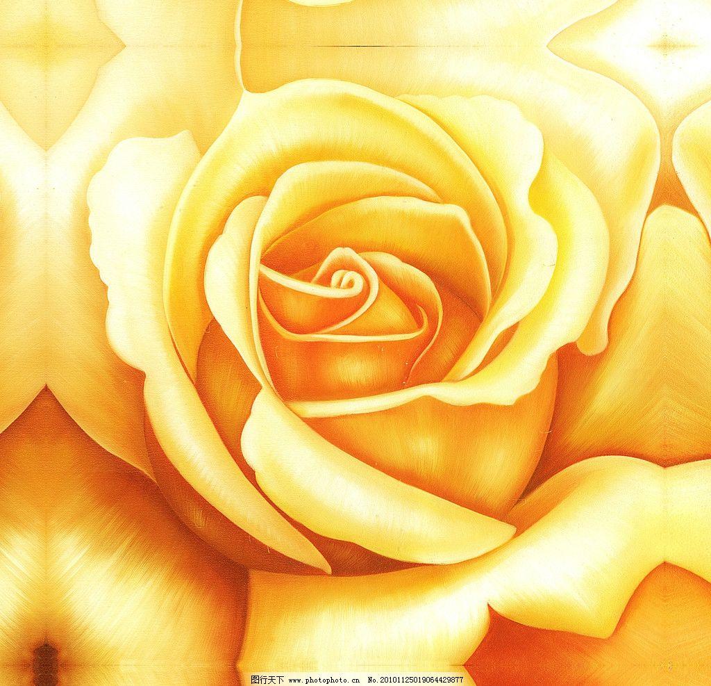 花卉 油画 玫瑰花 绘画书法 文化艺术