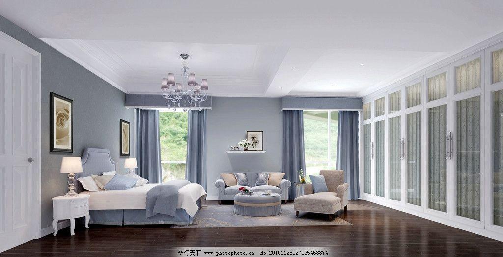 主人房效果图 简欧风格 主卧 卧室效果表现 室内设计 环境设计 设计 7