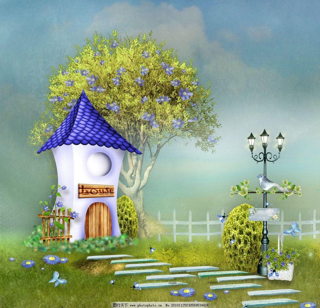 童话背景 童话 小房子
