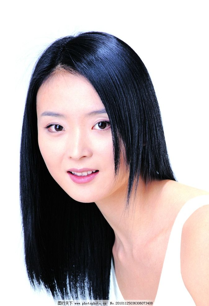 王艳 美女明星 长发 黑亮 头发 洗发水 还珠格格 晴儿 摄影图片